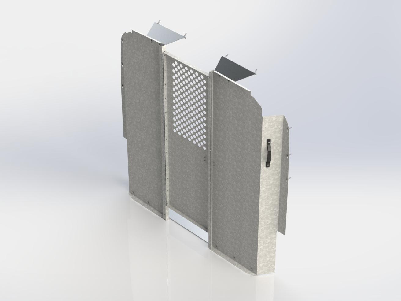 c30 x partition avec porte pivotante et fen tre perfor e. Black Bedroom Furniture Sets. Home Design Ideas