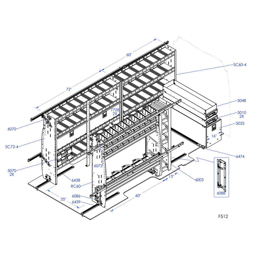 F512 ensemble chauffage ventilation et climatisation for 512 plan